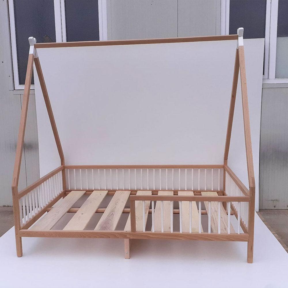 Patut din lemn masiv model Teepee 120*200cm